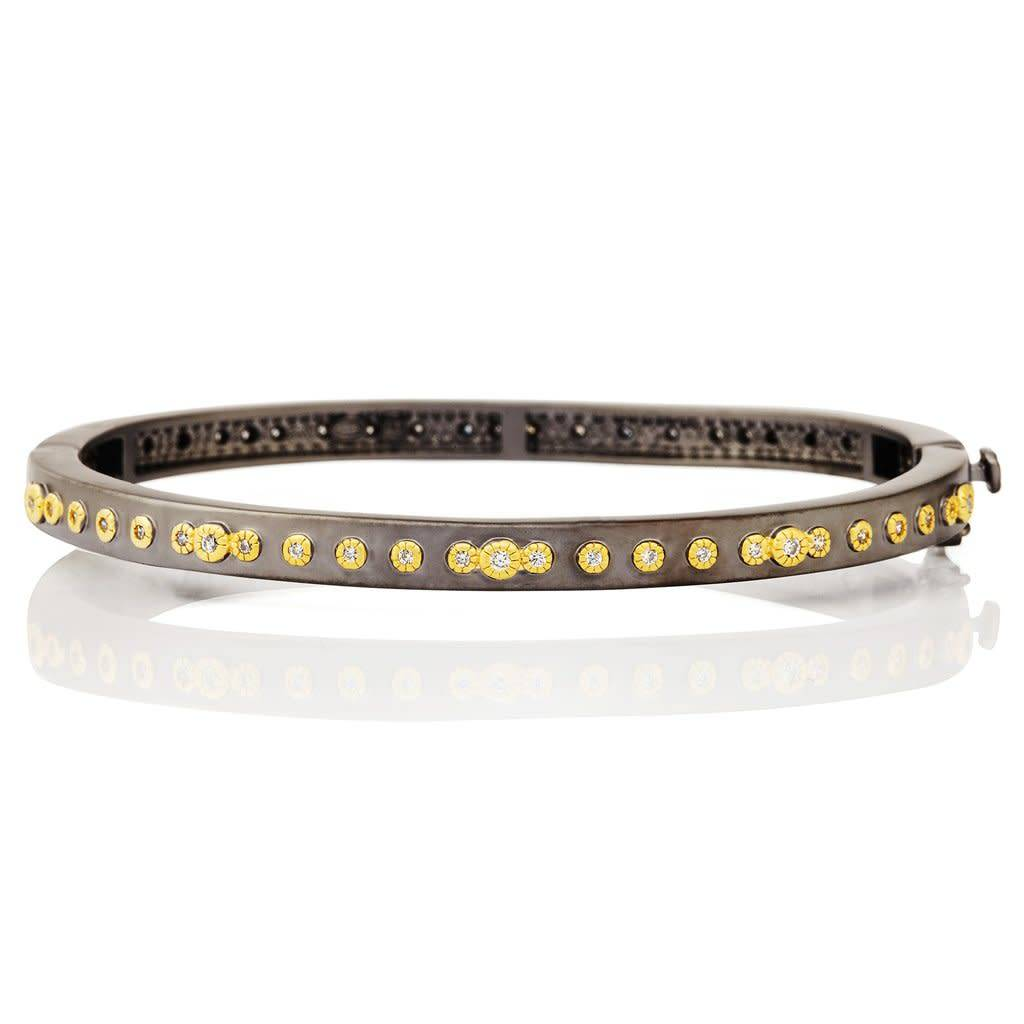 Freida Rothman Signature Mini Stud Eternity Hinge Bangle