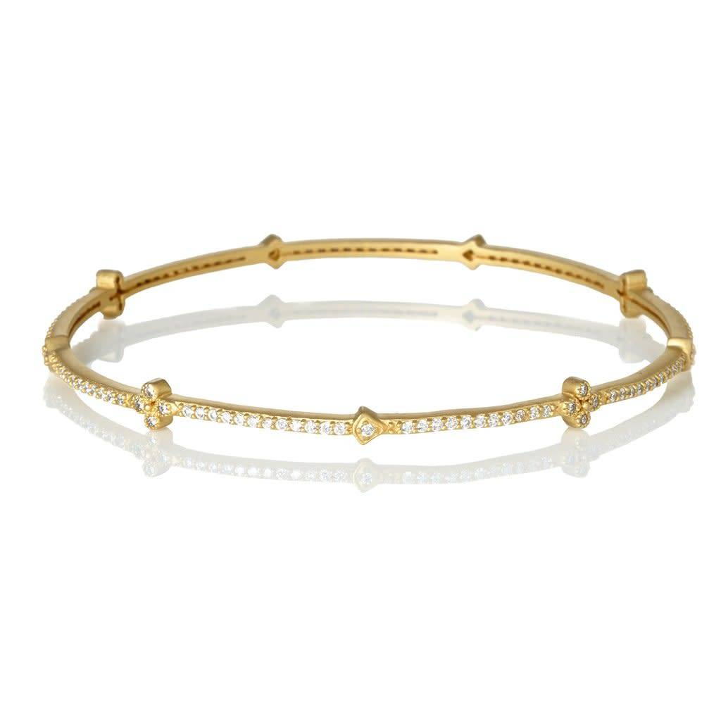 Freida Rothman Signature Clover Station Bangle
