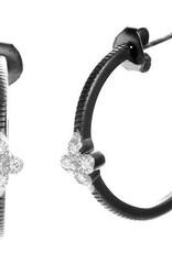 Freida Rothman Clover Huggie Hoop Earring