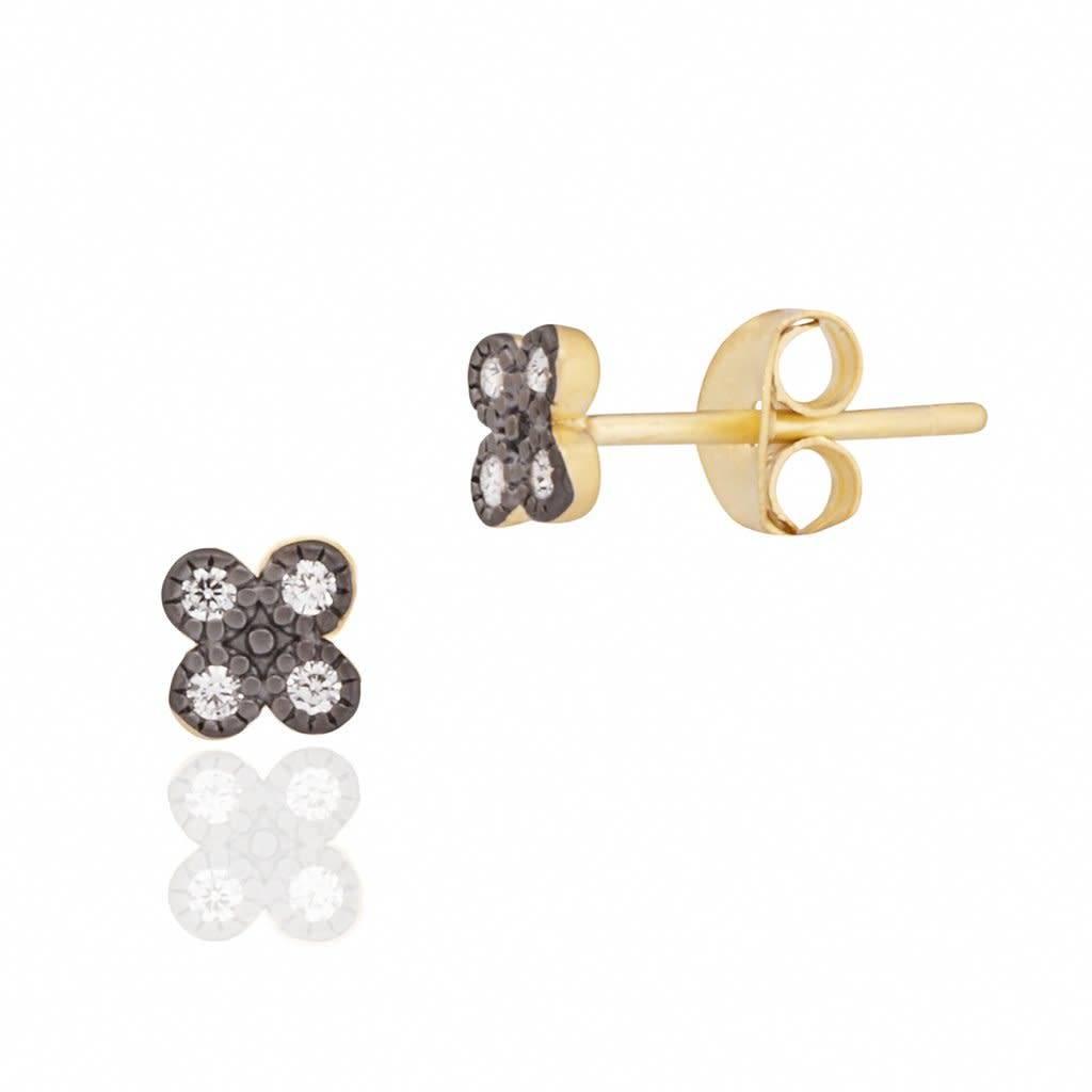 Freida Rothman Tiny Clover Stud Earring