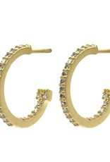 Freida Rothman Pave Small Hoop Earring