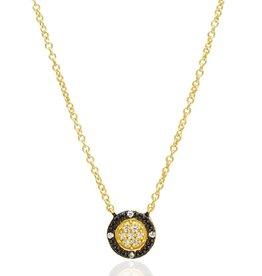 Freida Rothman Two-Tone Pave Round Necklace