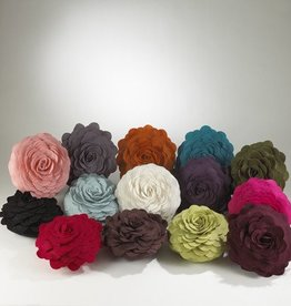 "Flower Pillow Ivory 13"""