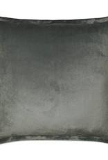 Belvedere Flange Pillow - Graphite 20 x 20