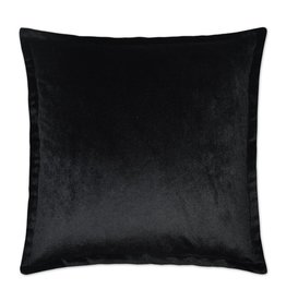 Belvedere Flange Pillow - Black 20 x 20