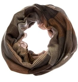 Double Sided Plaid Infinity Scarf