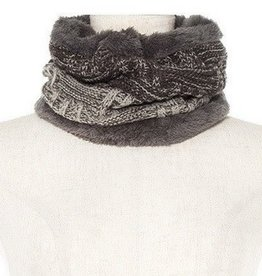 Two Tone Knit Neck Warmer