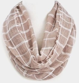 Infinity Checkered Print Scarf
