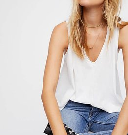 Free People Peachy Tee White