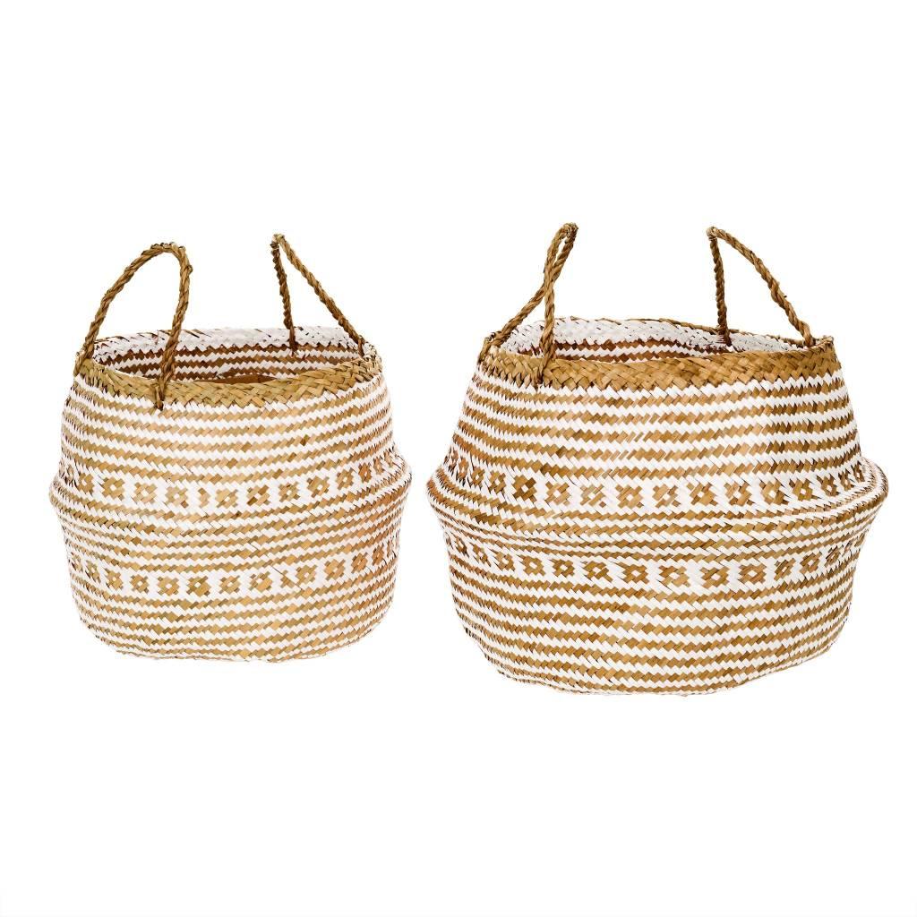Laysan Belly Basket White Large