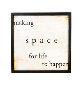 Making Space Wooden Art Print