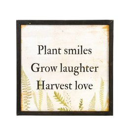 Plant Smiles Wooden Art Print