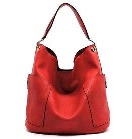 Side Pocket Hobo Bag w Travel Bag