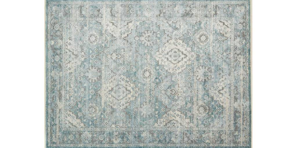Loloi Rugs Ophelia Collection Aqua Grey Simply Elegant