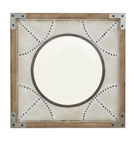 Axel Diamond Wood Frame Mirror