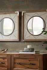 Axel Diamond Wood Frame Mirror