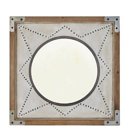 Axel Star Wood Frame Mirror
