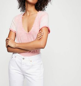 Free People Saturday Tee Coral