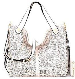 Cut Out Detail Bucket Bag w/ Wallet