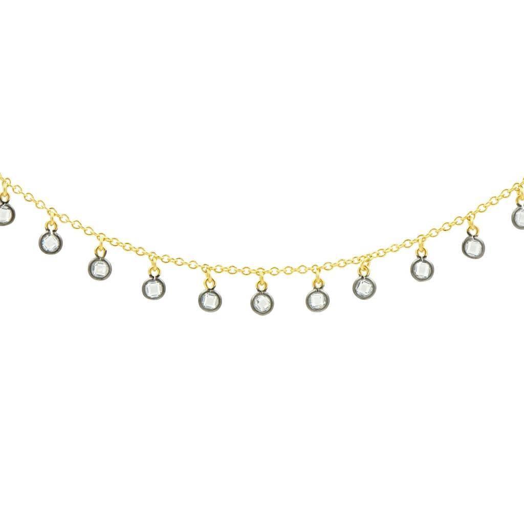 "Freida Rothman Signature Charm Short Necklace 14"""