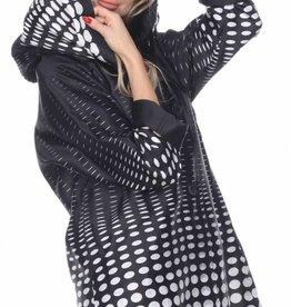 Pleated Hood Reversible Raincoat Polka Dot