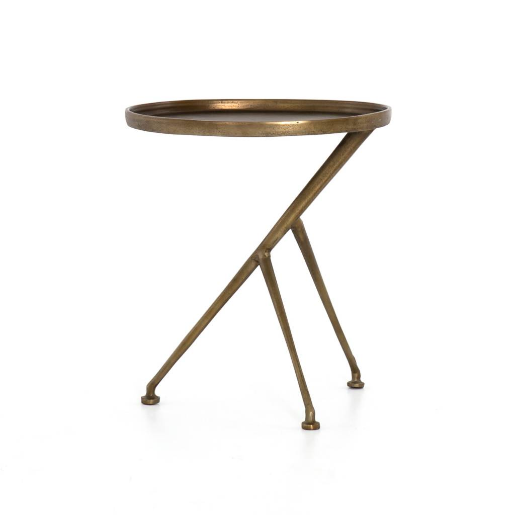 Schmidt Accent Table - Raw Brass