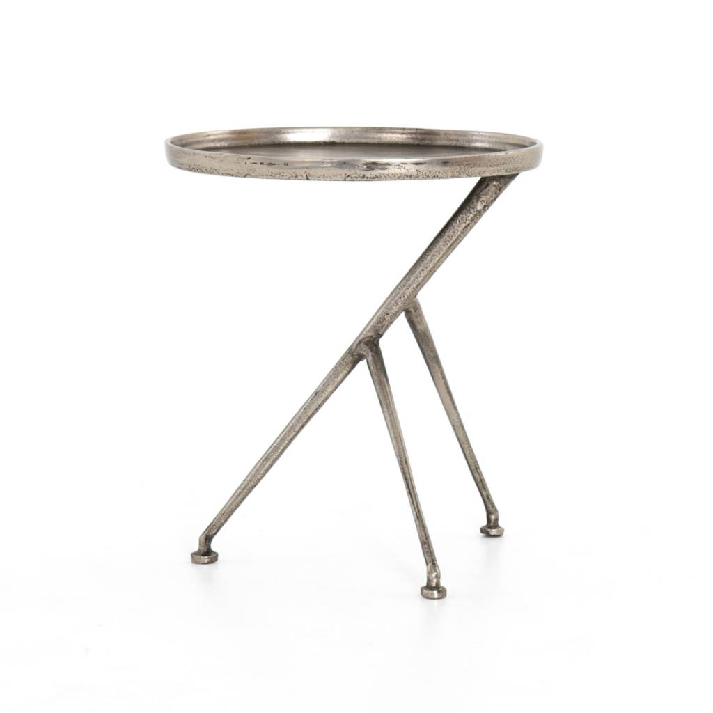 Schmidt Accent Table - Raw Antique Nickel