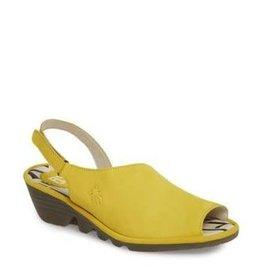 Fly London Palp Wedge Sandal - Lemon