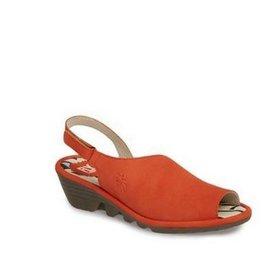 Fly London Palp Wedge Sandal - Poppy