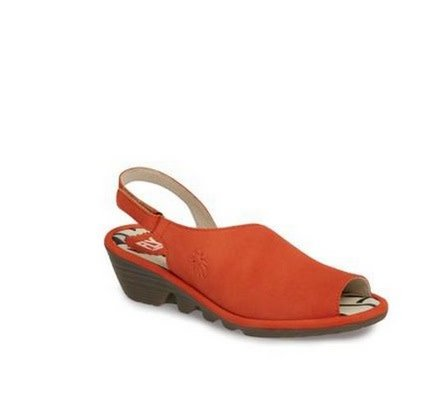Fly London Palp Wedge Sandal - Poppy