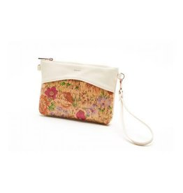 Pixie Mood Nicole Small Pouch - Light Floral Cork