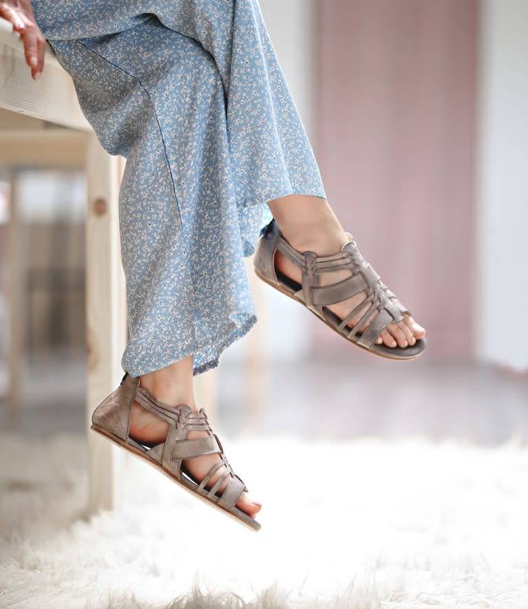 Bed Stu Cara Sandal Light Grey Rustic