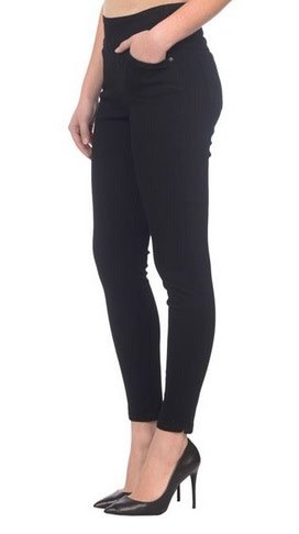 Lola Jeans Rachel High Rise Pull On Ankle Pant - Black