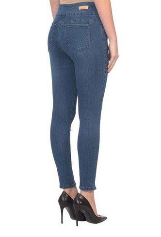 Lola Jeans Rachel High Rise Pull On Ankle Jean - Med Blue