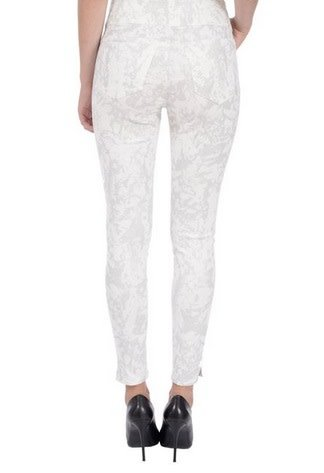 Lola Jeans Rachel High Rise Pull On Ankle Pant - Metallic