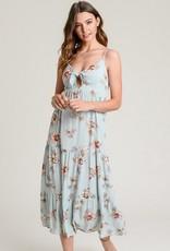 Floral Print Midi Dress Sage Mix