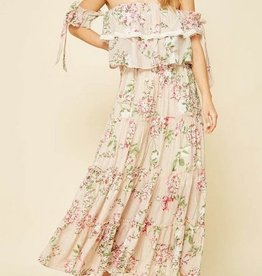 Garden Floral Maxi Dress Oatmeal