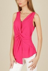 Sleeveless Front Drape Top Teaberry