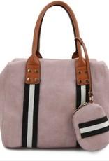 Bold Stripe Accent Handbag