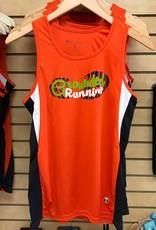 Grounded Running Grounded Running Singlet - Orange Womens