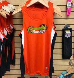 Grounded Running Grounded Running Singlet Orange Mens