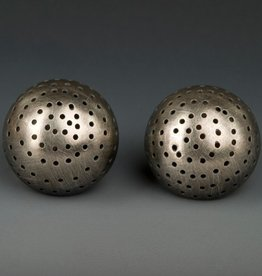 Baharal + Gnida Baharal + Gnida Perforated Dome Earrings