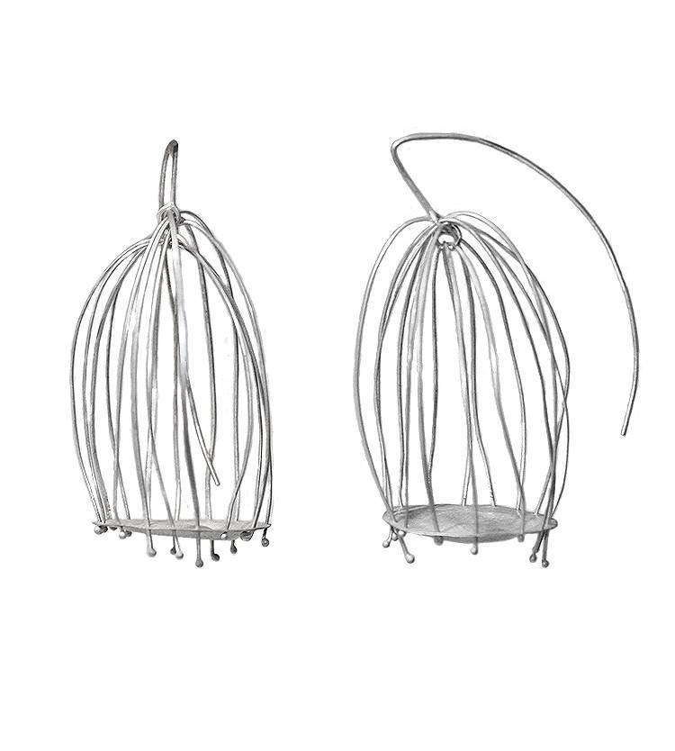Biba Schutz Biba Schutz Bird Cage Hook Earrings