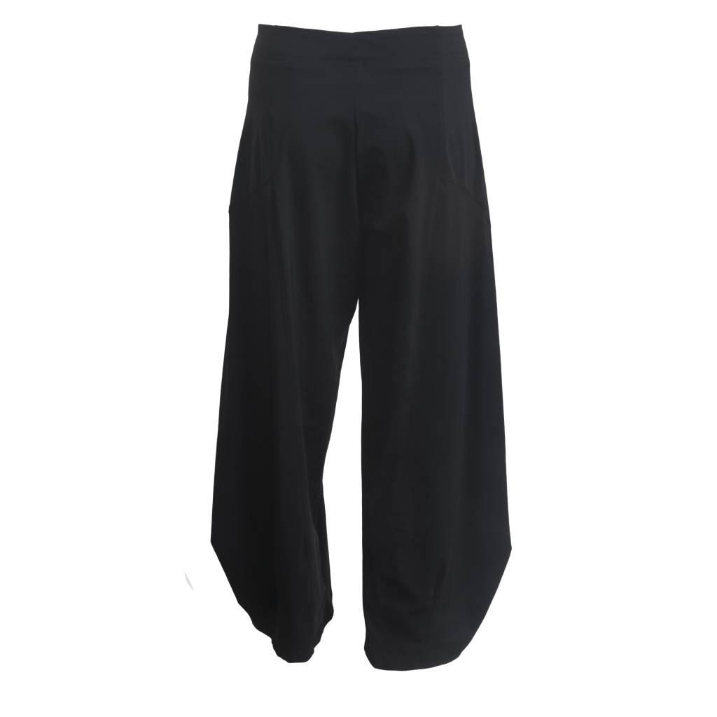 Porto Porto Belden Side Pleat Pants - Black