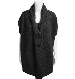 Nor Button Cardigan - Black