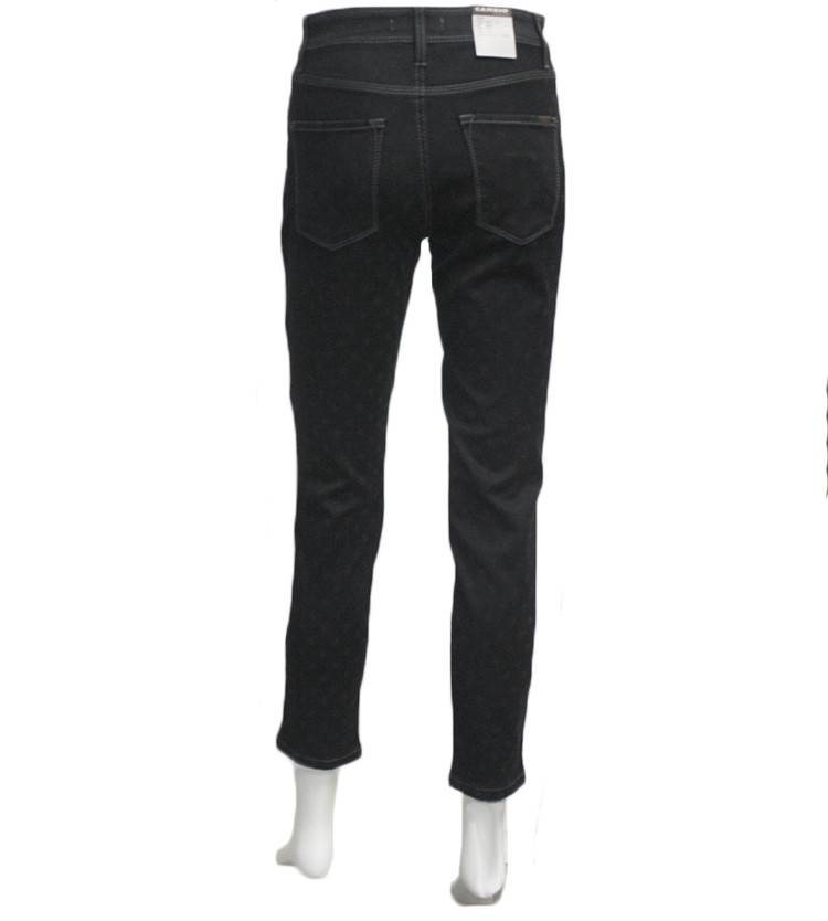 Cambio Piper Short Black Dot Jeans - Pomegranate La Jolla