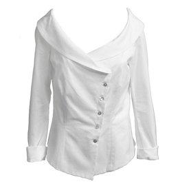 ELM by Matthildur White Pique Boat Neck Shirt