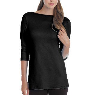 A'nue Ligne A'nue Ligne Boatneck Long Sleeve Top - Black