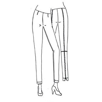 Raffaello Rossi Raffaello Rossi Penny Crop Pants - Quartz