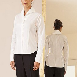 Matthildur Matthildur Asymmetric Hidden Button Shirt - White